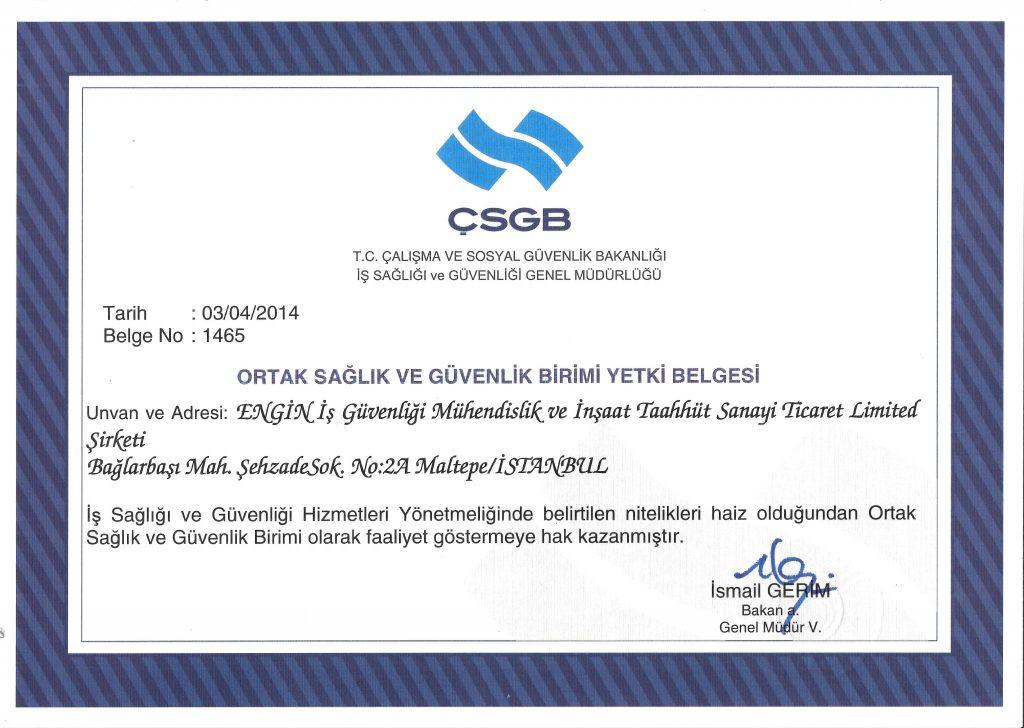 Belgelerimiz   İş Güvenliği   Engin OSGB